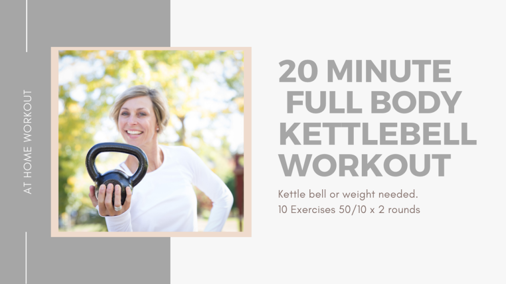 20 minute Full Body Kettlebell Workout - KETTLEBELL, KETTLEBELL WORKOUT, 20 MINUTE WORKOUT, TOTAL BODY WORKOUT, METABOLIC WORKOUT, AT HOME WORKOUT