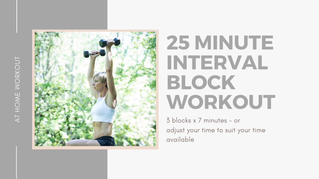 25 Minute Interval Block Workout -  30 MINUTE WORKOUT, TOTAL BODY WORKOUT, AT HOME WORKOUT, METABOLIC WORKOUT, CARDIO WORKOUT, STRENGTH WORKOUT