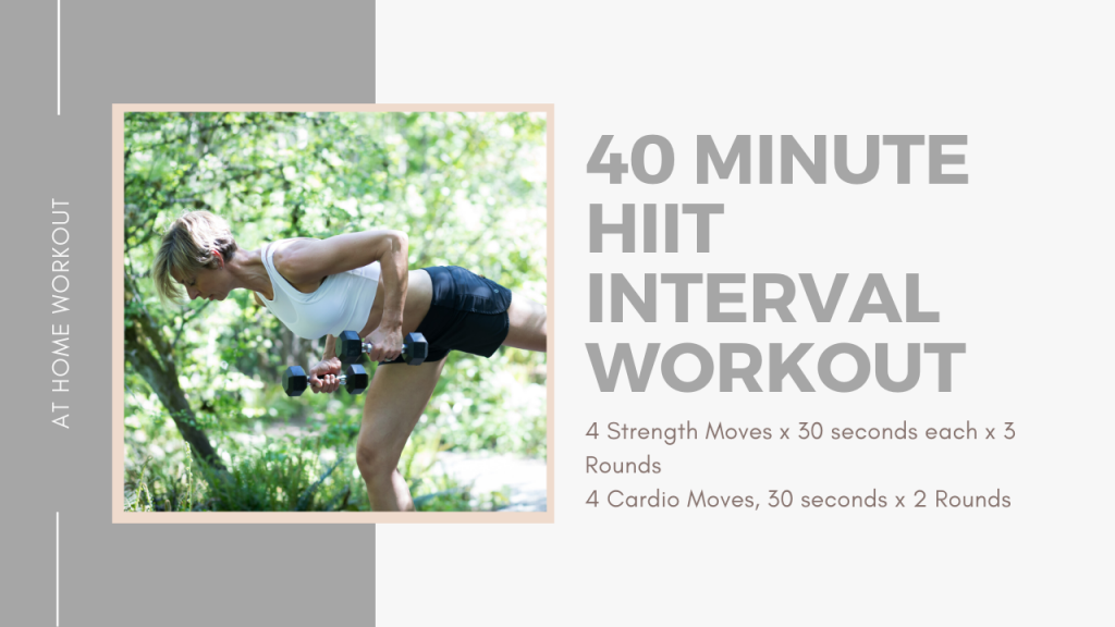 40 Minute HIIT Interval Workout - INTERVAL WORKOUT, STRENGTH WORKOUT, ADVANCED WORKOUT, HIIT WORKOUT, AT HOME WORKOUT, 45 MINUTE WORKOUT, DUMBBELL WORKOUT