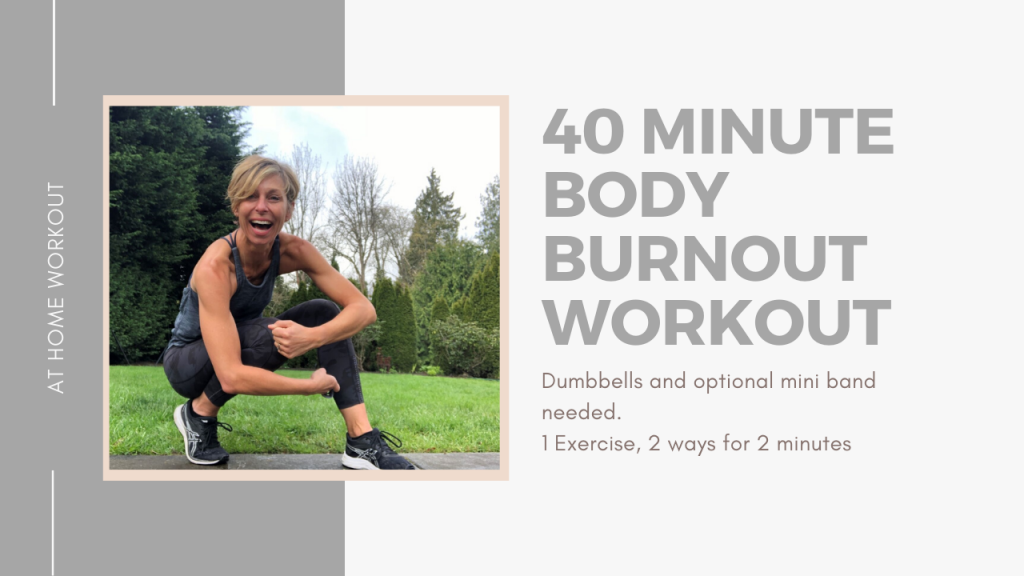 40 minute body burnout workout, 40 MINUTE WORKOUT, TOTAL BODY WORKOUT, AT HOME WORKOUT, METABOLIC WORKOUT, CARDIO WORKOUT, STRENGTH WORKOUT, 40 MINUTE DUMBBELL WORKOUT