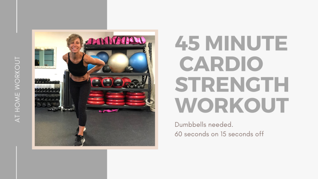 45 minutes total body cardio strength workout - INTERVAL WORKOUT, HIIT WORKOUT, METABOLIC WORKOUT, DUMBBELL WORKOUT, AT HOME WORKOUT, 45 MINUTE WORKOUT